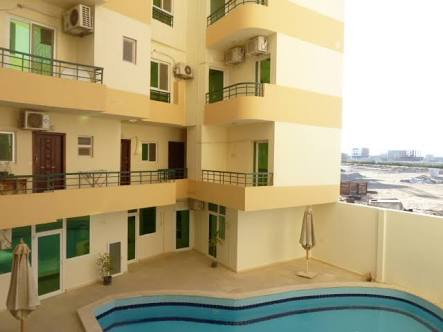Apartment one bedroom in Tiba Garden residential compound with pool.
