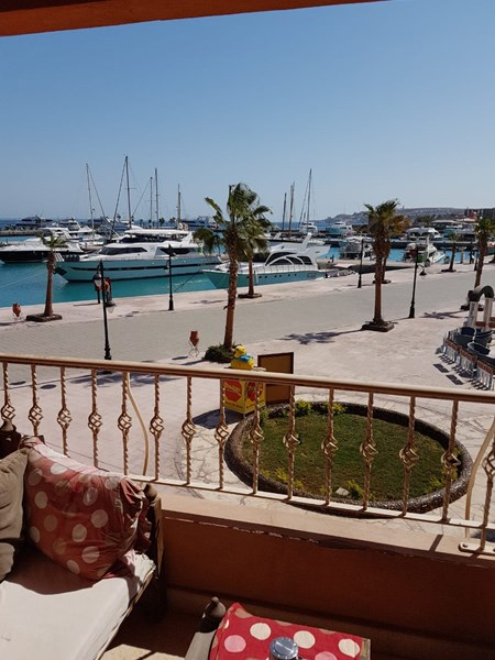 Hurghada Marina elite compound beach front in the heart of city.